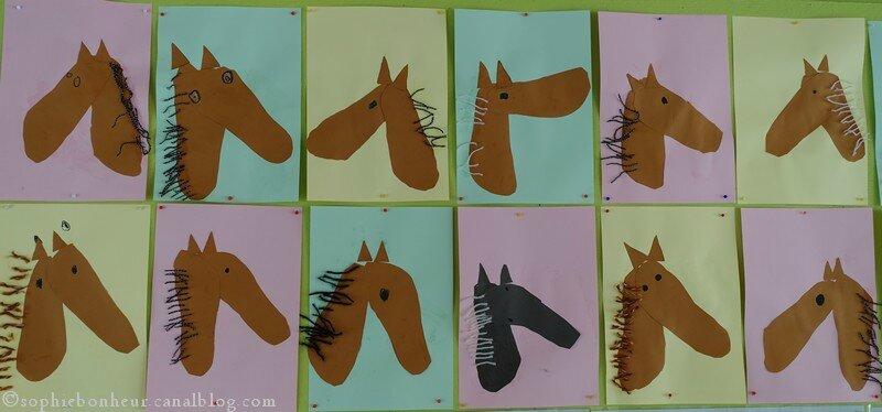 chevaux têtes n