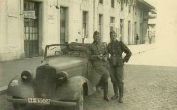 Mercedes SS gare de Bayonne sept 1940