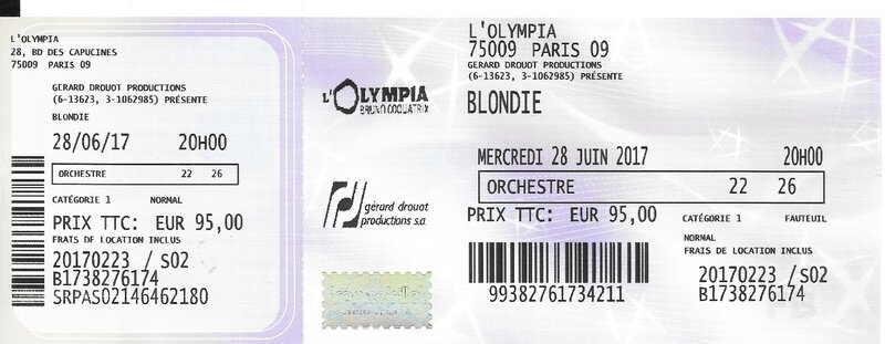 2017 06 28 Blondie Olympia Billet