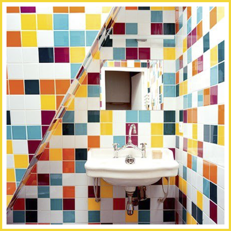 La-faïence-carrés-de-couleur