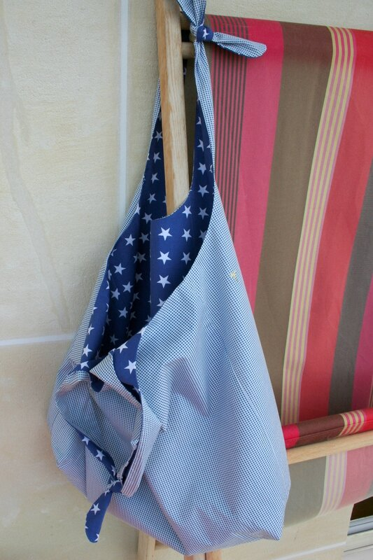 sac reversible bleu