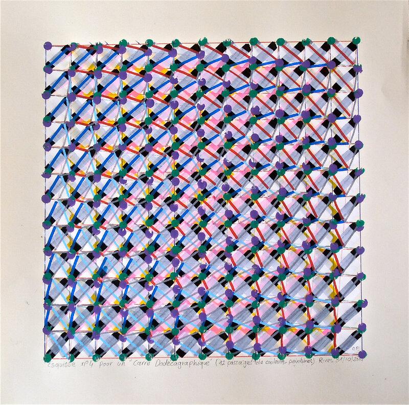 Carré Dodécagraphique 40x40 cm Olivier Fouchard 2014