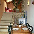 cuisine avec escalier monté salon