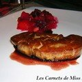 Foie gras pol et sa compote pice