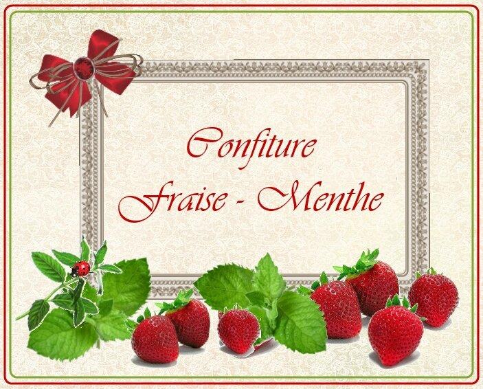 conf fraises menthe