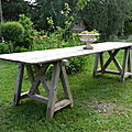 Table de vendange longueur 3m