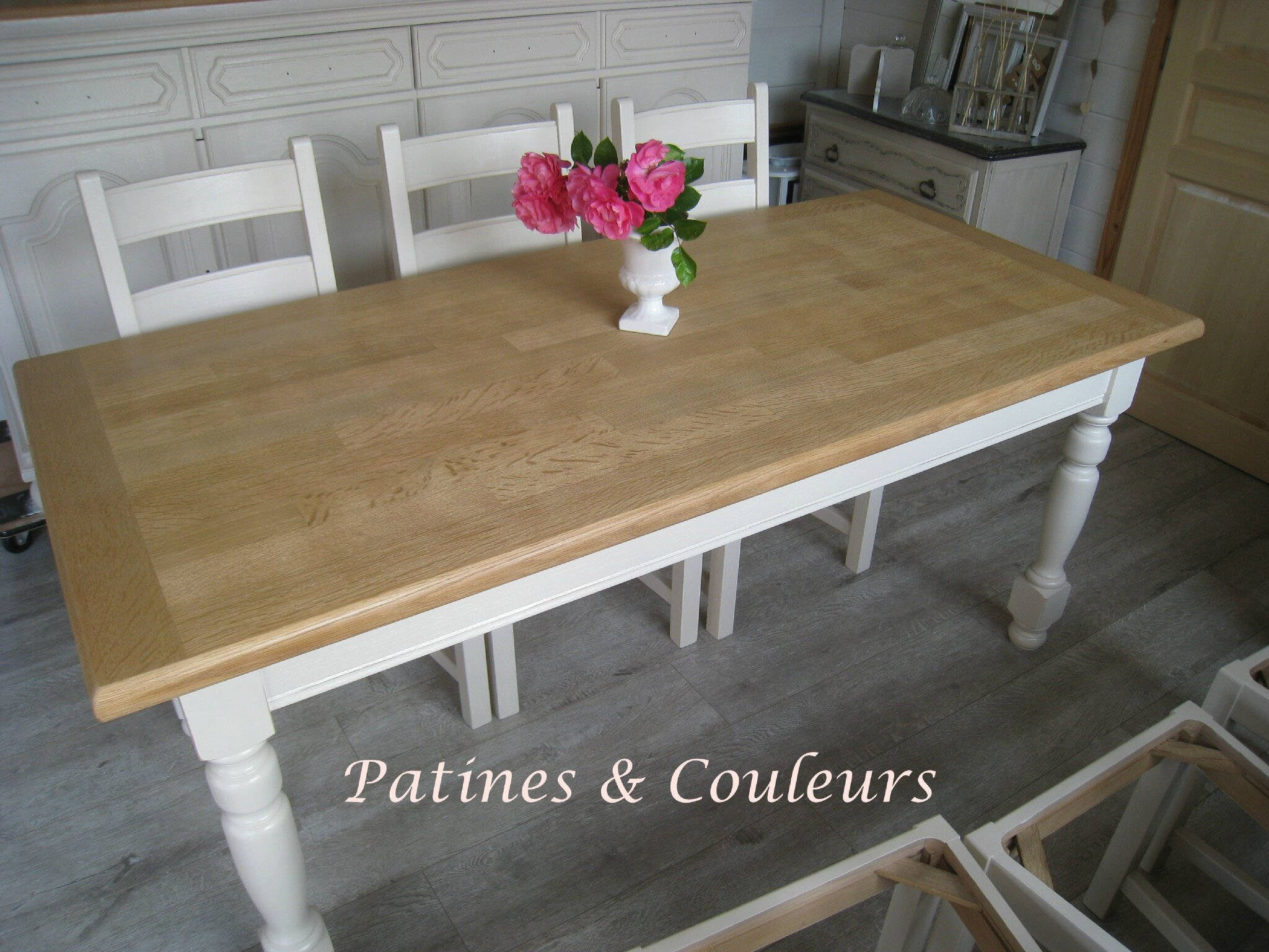 une salle manger relook e ch ne et h tre patines couleurs. Black Bedroom Furniture Sets. Home Design Ideas