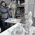 visite à l'atelier d'agnès bracquemond