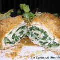 Roulé de dinde aux épinards et aux oignons verts, sans gluten et sans lactose