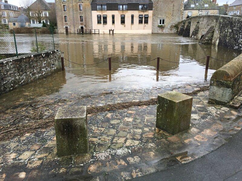 inondation crue 14 février 2016 Ducey Sélune fleuve