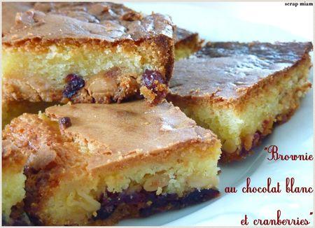 brownie choc blanc cranb