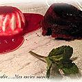 Panna cotta - coulis framboise / fondant chocolat