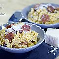 Risotto au chorizo