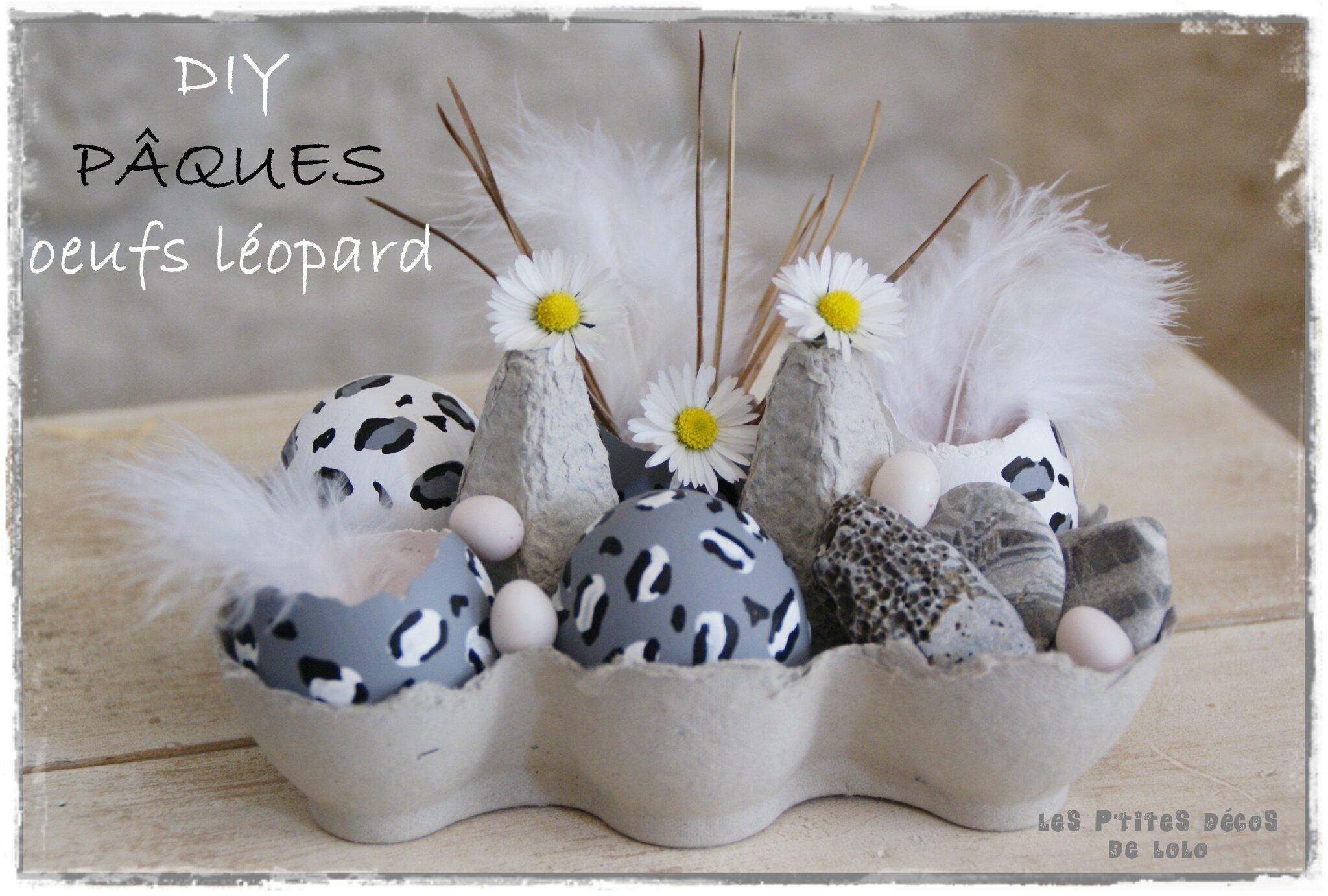 White & Pâques : oeufs léopards