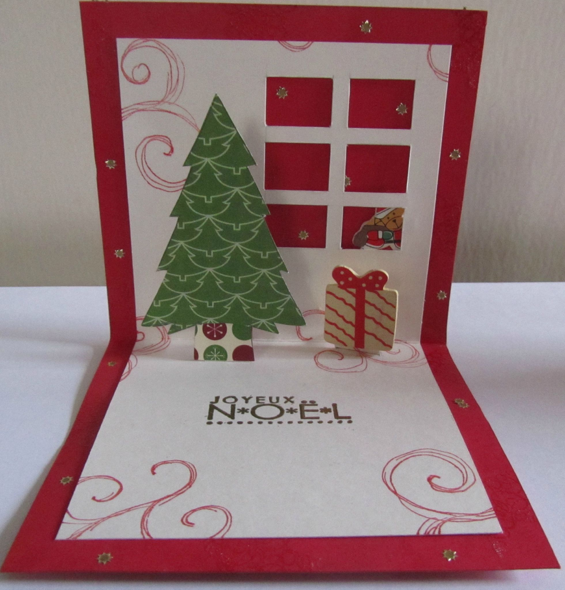 Carte de noel pop up quotesdelivered - Carte de voeux pop up ...