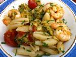 pâtes aux crevettes et aux courgettes (2)