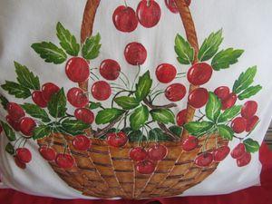 ciliegie a pittura su stoffa (1)