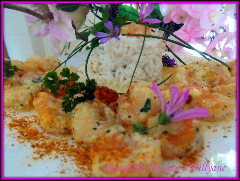 Crevettes sauce moutarde colombo passiflore passion d - Cuisiner gambas surgelees ...