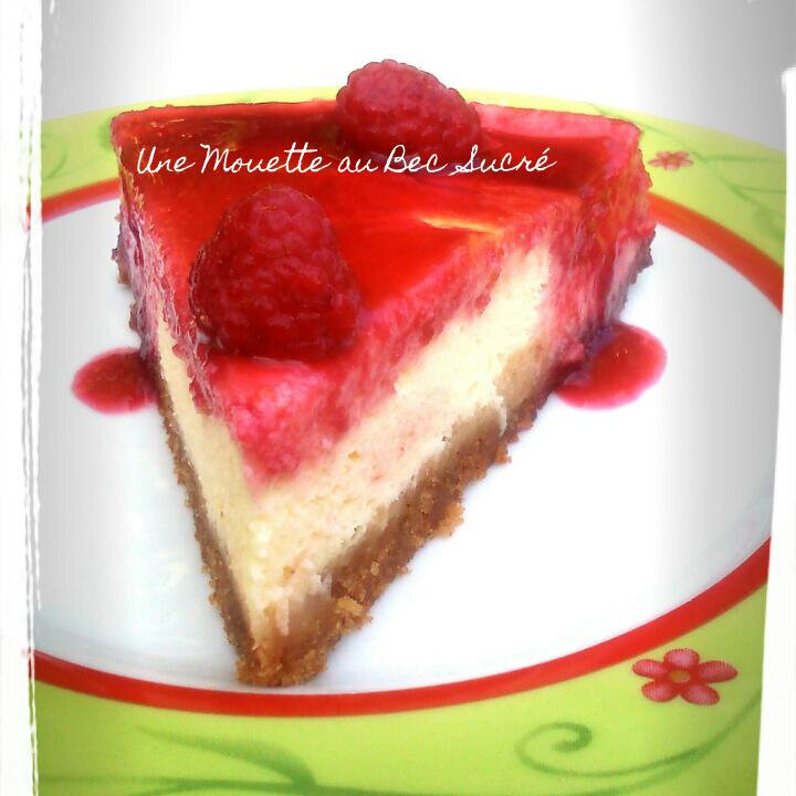 Cheesecake, coulis de Framboises