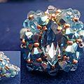 410 bague Killia aquamarine et turquoise