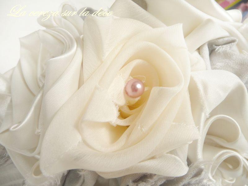 bouquet de mariée gris ivoire rose 5