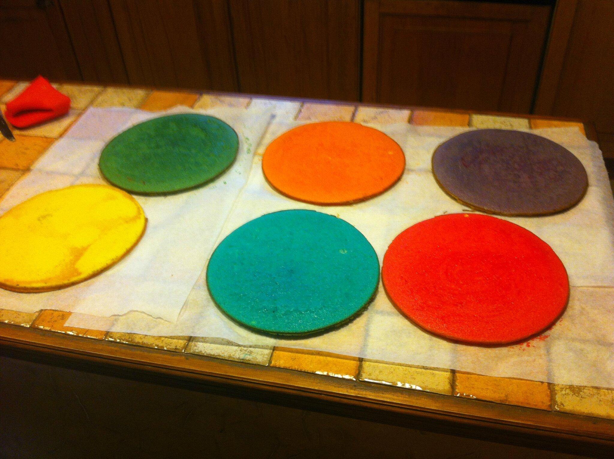 Recette de gateau en couleur
