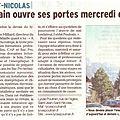 Article du dauphiné libéré du vendredi 23 03 2014 sur les jpo du lycée poutrain