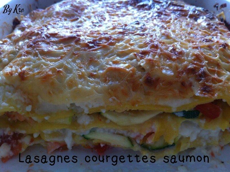 lasagnes courgettes saumon