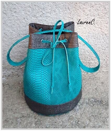 SAC_SEAU_SIMILI_DRAGON_BUBBLES_TURQUOISE_BRONZE