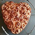 Coeur bouclettes de la st valentin
