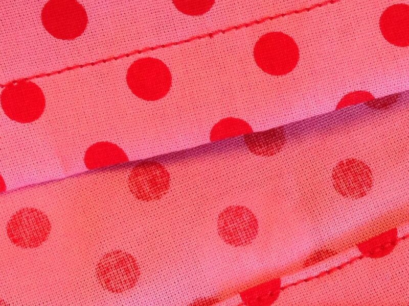 robe rose a pois rouges modele susanne 12A 6