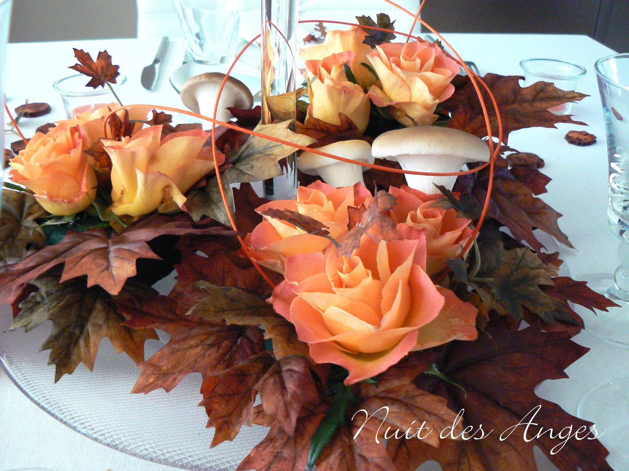 Photo Table Decoration Theme Automne : Nuit des anges décoratrice de mariage décoration table