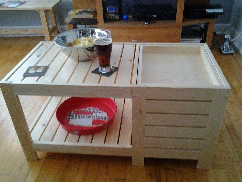 Table basse fabriquée par Alexandra