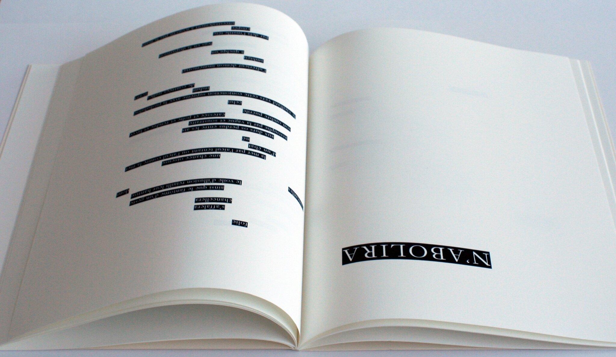 Le Hasard n'abolira jamais Un Coup de Dés, OMAGE, Paris, éditions Yvon Lambert, 2014