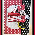 Carte minnie - défi 510 passion carte créative