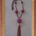 Collier chaine rose