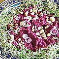 Puréed beets with yogurt and za'atar (mousse de betteraves au yaourt et zaatar)