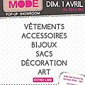 L'instant mode#2 salon créateurs art et objets originaux