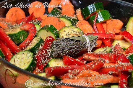 carottes-courgettes-poivrons-rôtis-four-herbes provence-thym