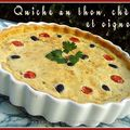 Quiche au thon, chvre et oignons