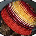 Bonnet aux couleurs chaudes