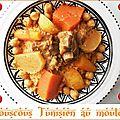 Couscous tunisien au mouton