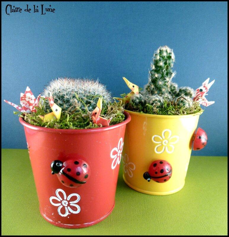 lapin origami dans cactus 1