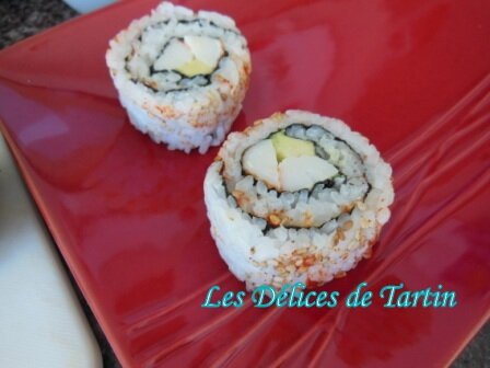 Califormia rolls avocat-surimi