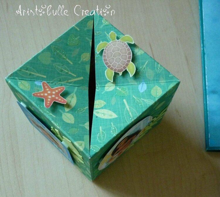 Carte cube pop up Vaïana - cube dessus