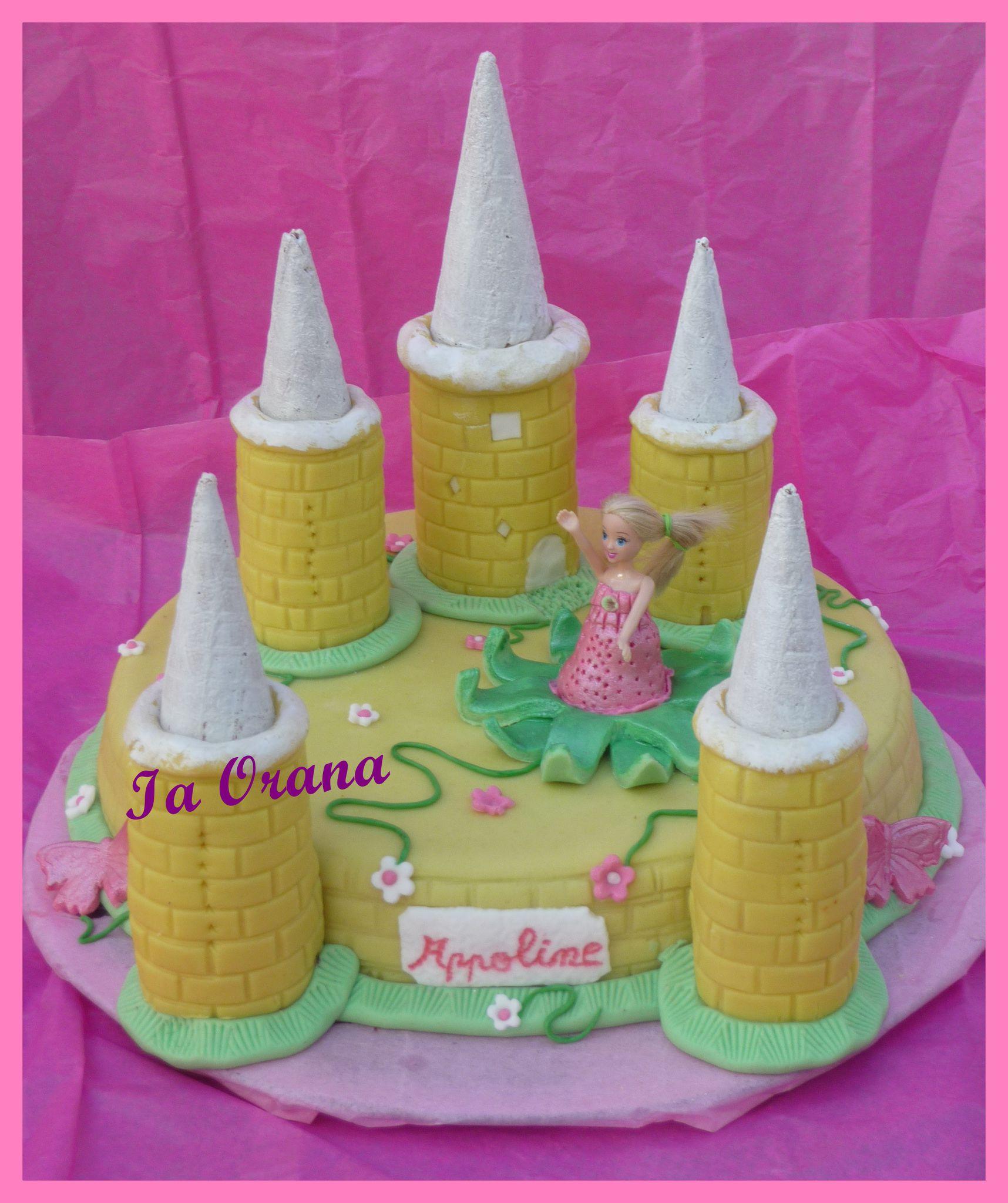 Gâteau château de princesse / Princess castle cake