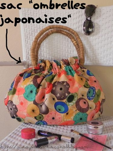Sac Ombrelles japonaises Au pays des Cactus
