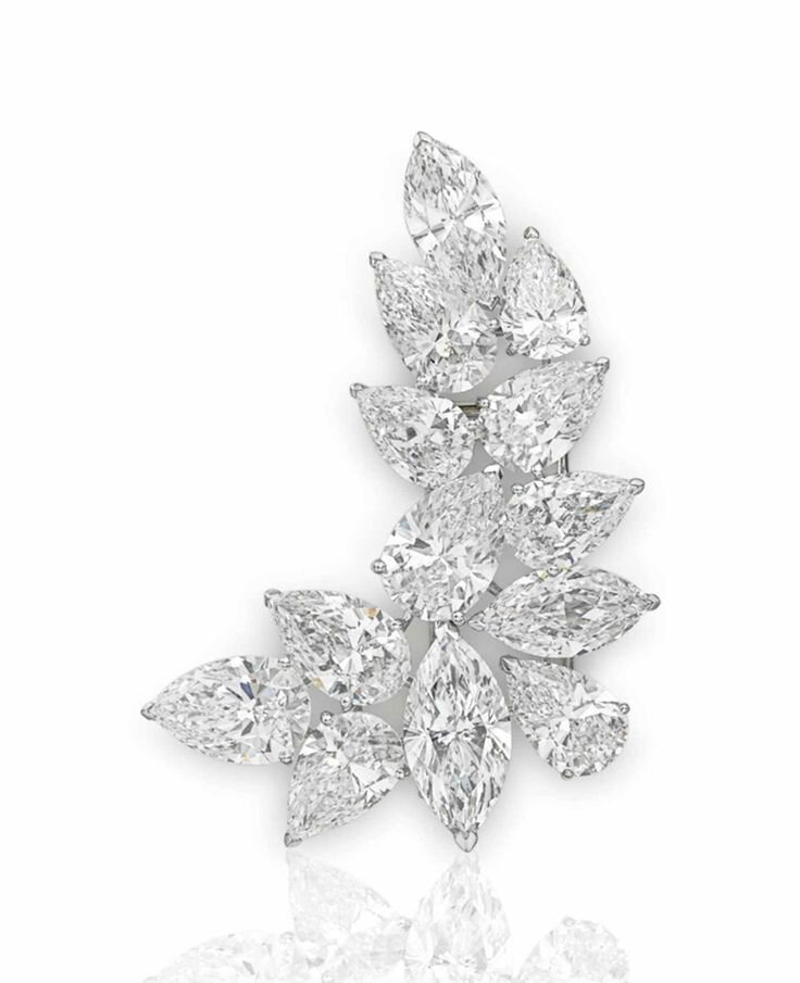 An important diamond brooch