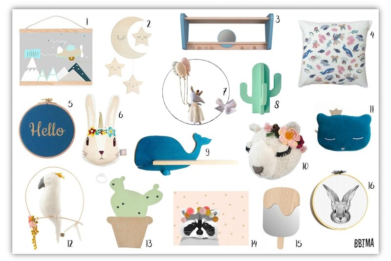 Sélection déco enfant kids fabriqué en france made in moodboard créateur créatrice étagère affiche coussin trophée minimel maaylechic funambulus jungle by jungle Scalaë Zü ours scandinave scandinavian decokids kidsroom french blog BBTMA