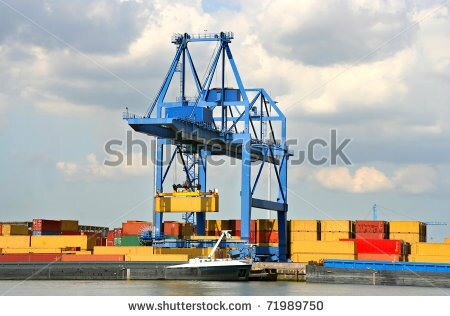 Look at container cranes used to load Lo-Lo Ships